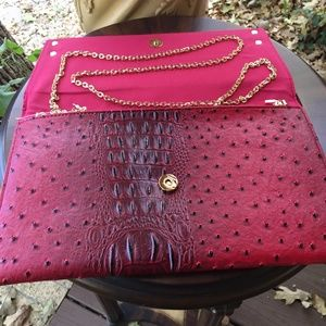 Bags - Bag/Clutch/Purse With Ostrich Look With Agate